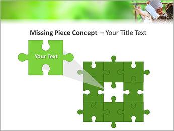 Reading In Hammock PowerPoint Template - Slide 25