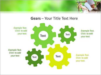 Reading In Hammock PowerPoint Template - Slide 27