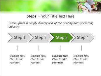 Reading In Hammock PowerPoint Template - Slide 4