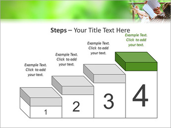Reading In Hammock PowerPoint Template - Slide 44