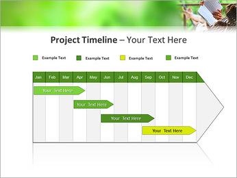 Reading In Hammock PowerPoint Template - Slide 5