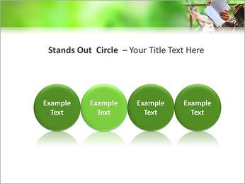 Reading In Hammock PowerPoint Template - Slide 56