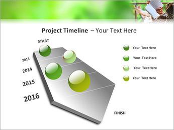 Reading In Hammock PowerPoint Template - Slide 6