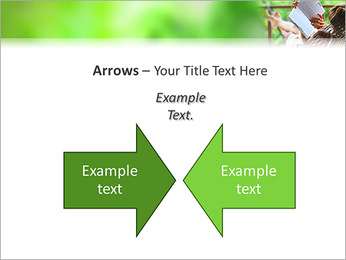 Reading In Hammock PowerPoint Template - Slide 70