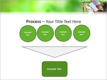 Reading In Hammock PowerPoint Template - Slide 73