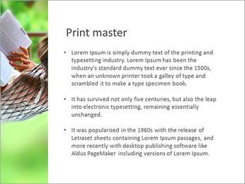 Reading In Hammock PowerPoint Template - Slide 76