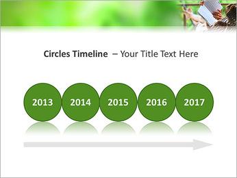 Reading In Hammock PowerPoint Template - Slide 9