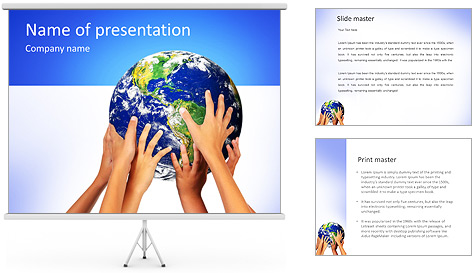 Earth In Hands PowerPoint Template