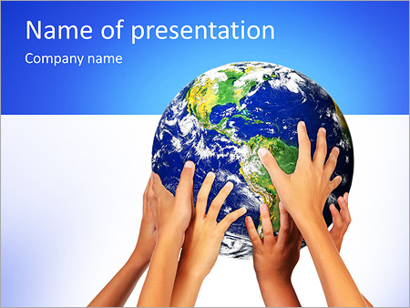 Earth In Hands PowerPoint Templates