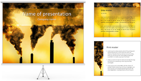 Factory Smog PowerPoint Template