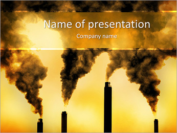 Factory Smog PowerPoint Template - Slide 1