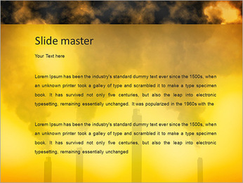 Factory Smog PowerPoint Template - Slide 2