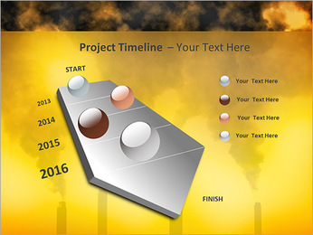 Factory Smog PowerPoint Template - Slide 6