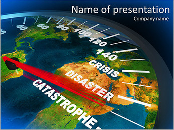 Catastrophe PowerPoint Template - Slide 1