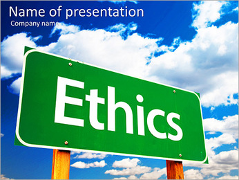 Ethics PowerPoint Template - Slide 1