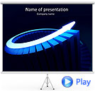 Blue Light Arrow Animated PowerPoint Template
