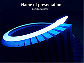 Blue Light Arrow Animated PowerPoint Template - Slide 1