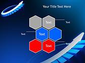 Blue Light Arrow Animated PowerPoint Template - Slide 12