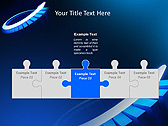 Blue Light Arrow Animated PowerPoint Template - Slide 19