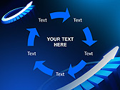 Blue Light Arrow Animated PowerPoint Template - Slide 20