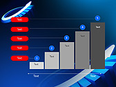 Blue Light Arrow Animated PowerPoint Template - Slide 33