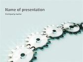 Grey Mechanism Animated PowerPoint Template - Slide 1