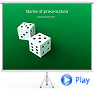 Two Playing Dies Animated PowerPoint Template
