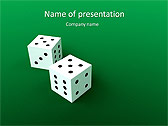 Two Playing Dies Animated PowerPoint Template - Slide 1