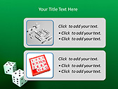 Two Playing Dies Animated PowerPoint Template - Slide 9
