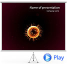 Orange Microorganism Animated PowerPoint Template