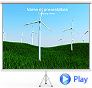 Windmills In The Field Animated PowerPoint Template