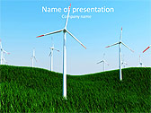 Windmills In The Field Animated PowerPoint Template - Slide 1