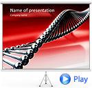 Red DNA Animated PowerPoint Template