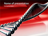Red DNA Animated PowerPoint Template - Slide 1