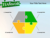 Green Teamwork Puzzle Animated PowerPoint Template - Slide 11