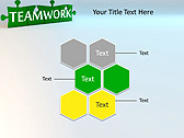 Green Teamwork Puzzle Animated PowerPoint Template - Slide 12