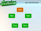 Green Teamwork Puzzle Animated PowerPoint Template - Slide 13