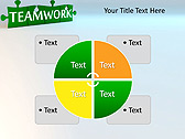 Green Teamwork Puzzle Animated PowerPoint Template - Slide 14