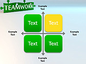 Green Teamwork Puzzle Animated PowerPoint Template - Slide 15