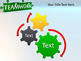 Green Teamwork Puzzle Animated PowerPoint Template - Slide 16