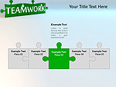 Green Teamwork Puzzle Animated PowerPoint Template - Slide 19