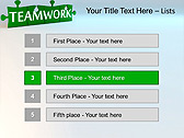 Green Teamwork Puzzle Animated PowerPoint Template - Slide 2