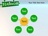 Green Teamwork Puzzle Animated PowerPoint Template - Slide 21