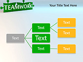 Green Teamwork Puzzle Animated PowerPoint Template - Slide 22