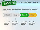 Green Teamwork Puzzle Animated PowerPoint Template - Slide 3