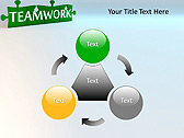 Green Teamwork Puzzle Animated PowerPoint Template - Slide 5