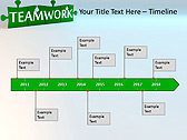 Green Teamwork Puzzle Animated PowerPoint Template - Slide 6