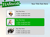 Green Teamwork Puzzle Animated PowerPoint Template - Slide 8