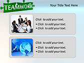 Green Teamwork Puzzle Animated PowerPoint Template - Slide 9