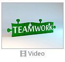 Green Teamwork Puzzle Video
